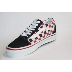 VANS OLD SKOOL 紅白格